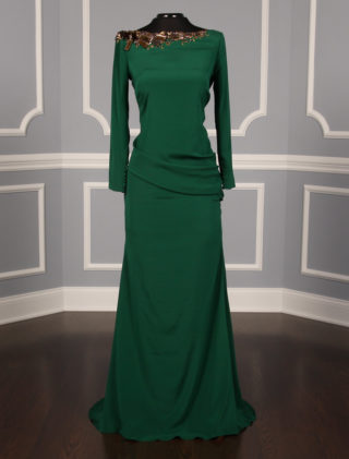 Anne Barge Colmar Forest Green Dress