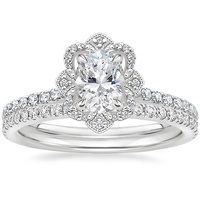 Brilliant Earth Crown Halo Diamond Engagement Wedding Ring
