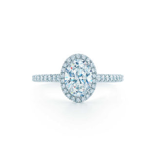 Tiffany Oval Shape Diamond Engagement Wedding Ring