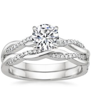 Brilliant Earth Twisted Band Diamond Engagement Wedding Ring